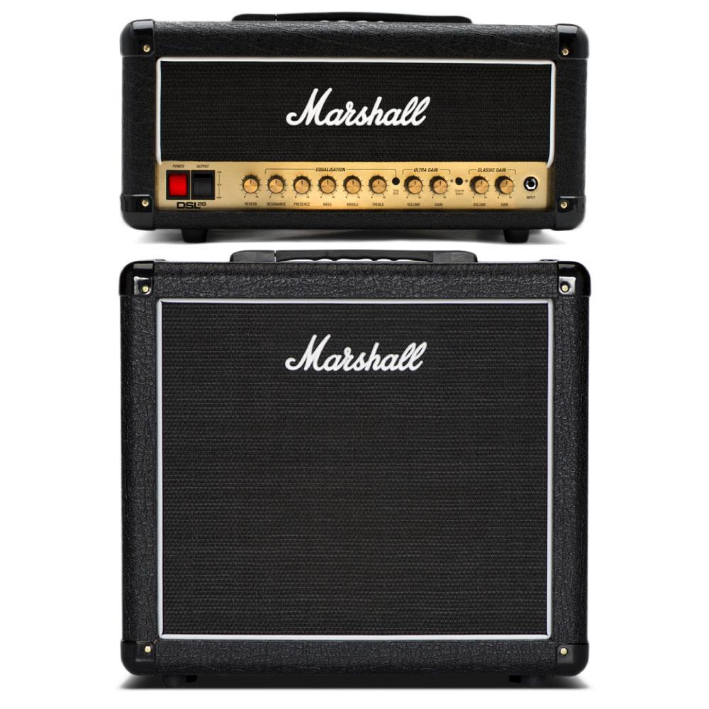 MARSHALL DSL20H & MX112 ギターアンプ スタックセット