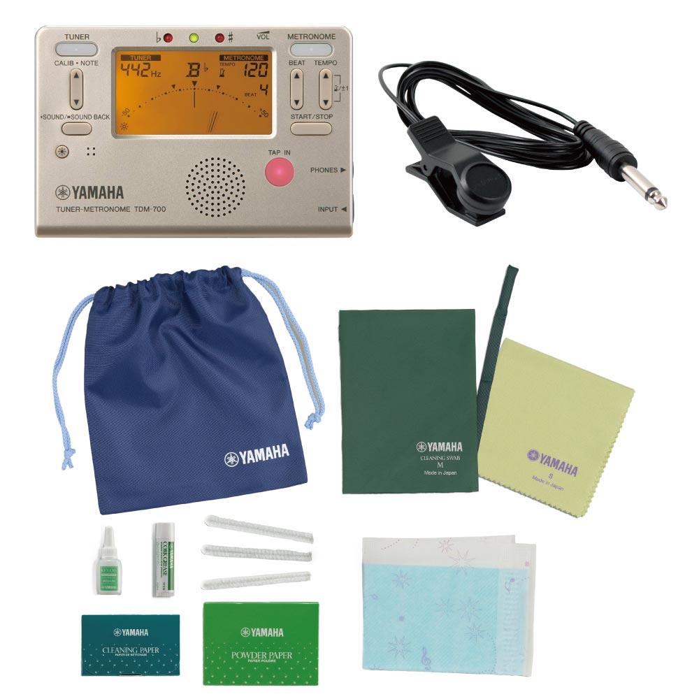 これからクラリネットを始められる方にお勧め 保障 定番チューナー付き 流行 ヤマハ クラリネット用お手入れセット チューナー セット チューニング用コンタクトマイク付き TDM-700G