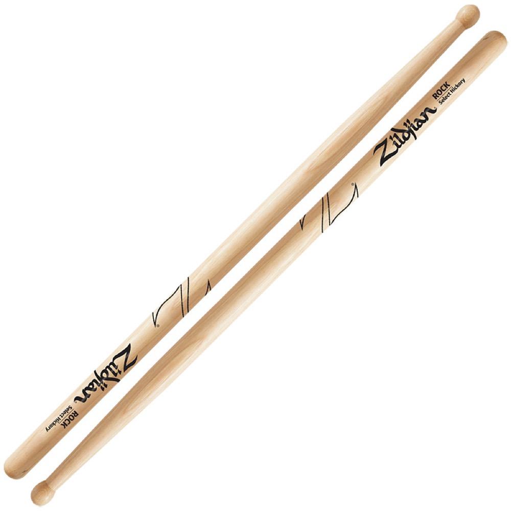 ZILDJIAN LAZLZRK Hickory Series SUPER 7A ROCK WOOD NATURAL DRUMSTICK ドラムスティック×6セット