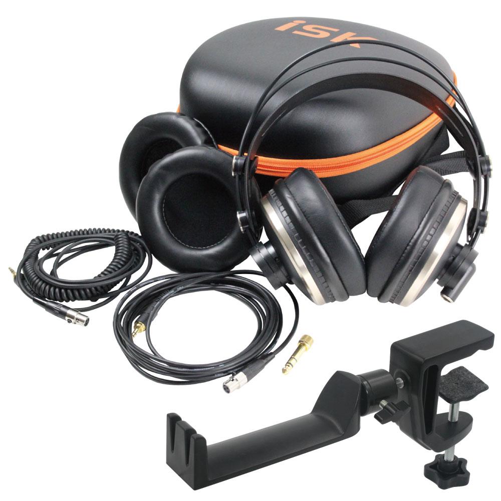 iSK HD9999 ヘッドホン & SEELETON SMH-1 ヘッドホンハンガー 2点セット