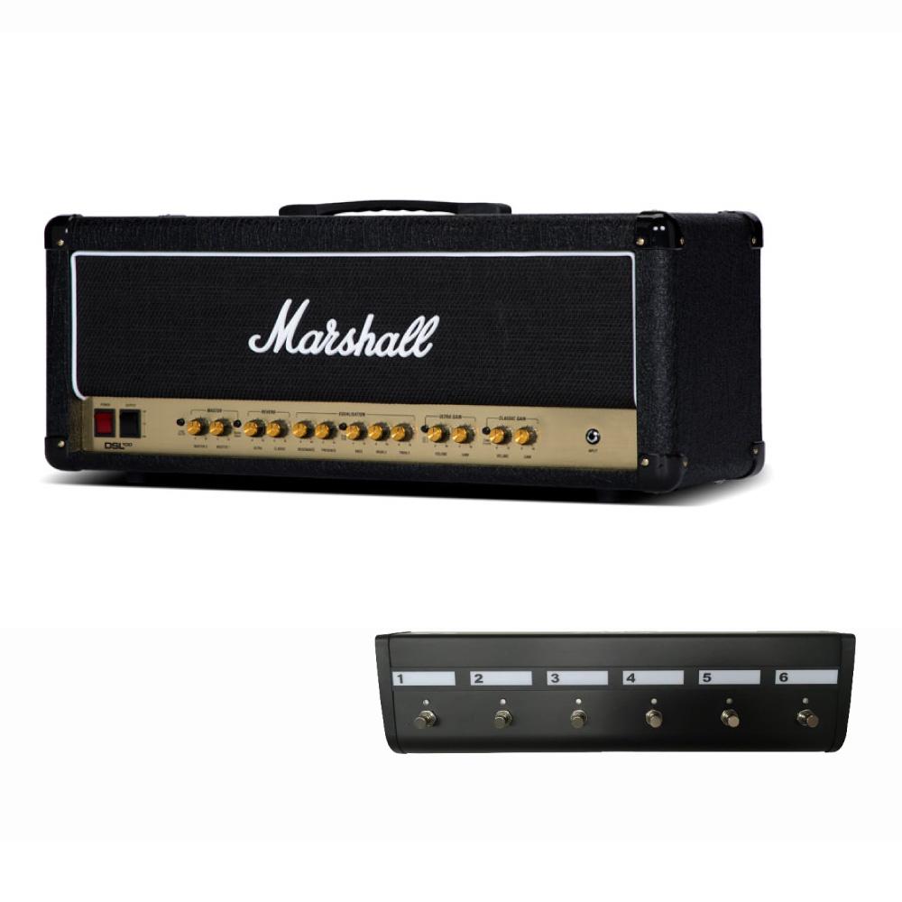 MARSHALL DSL100H ギターアンプ ヘッド & MARSHALL PEDL91016 専用フットコントローラー付きセット