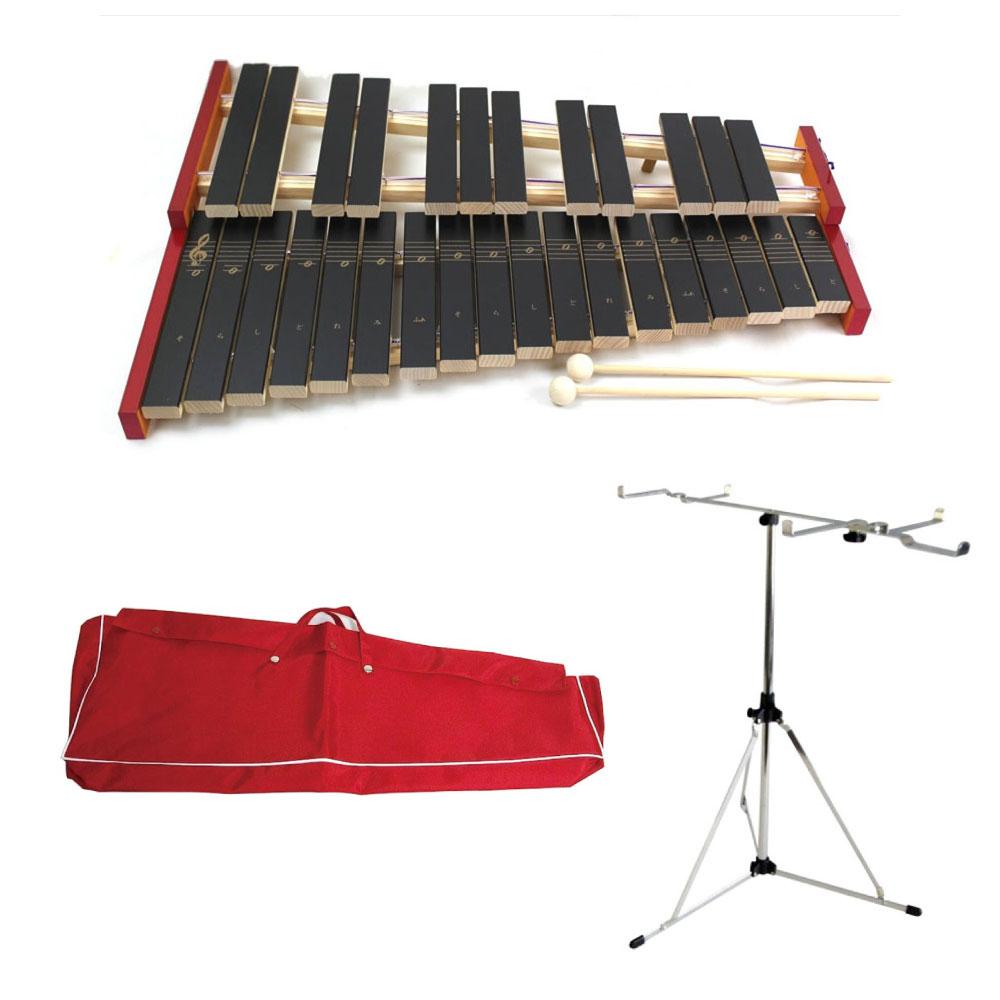 全音 3点セット No.181WA 木琴 全音 専用スタンド レッド 専用ビニールケース レッド 3点セット, ベルトイズム:c59146c3 --- officewill.xsrv.jp