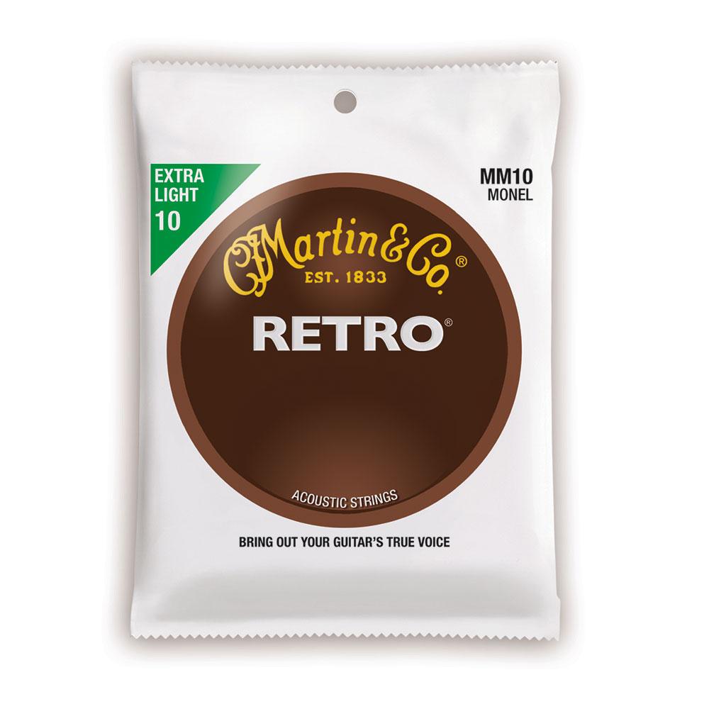 MARTIN MM10X Retro Acoustic Monel Nickel Extra Light アコースティックギター弦×10セット