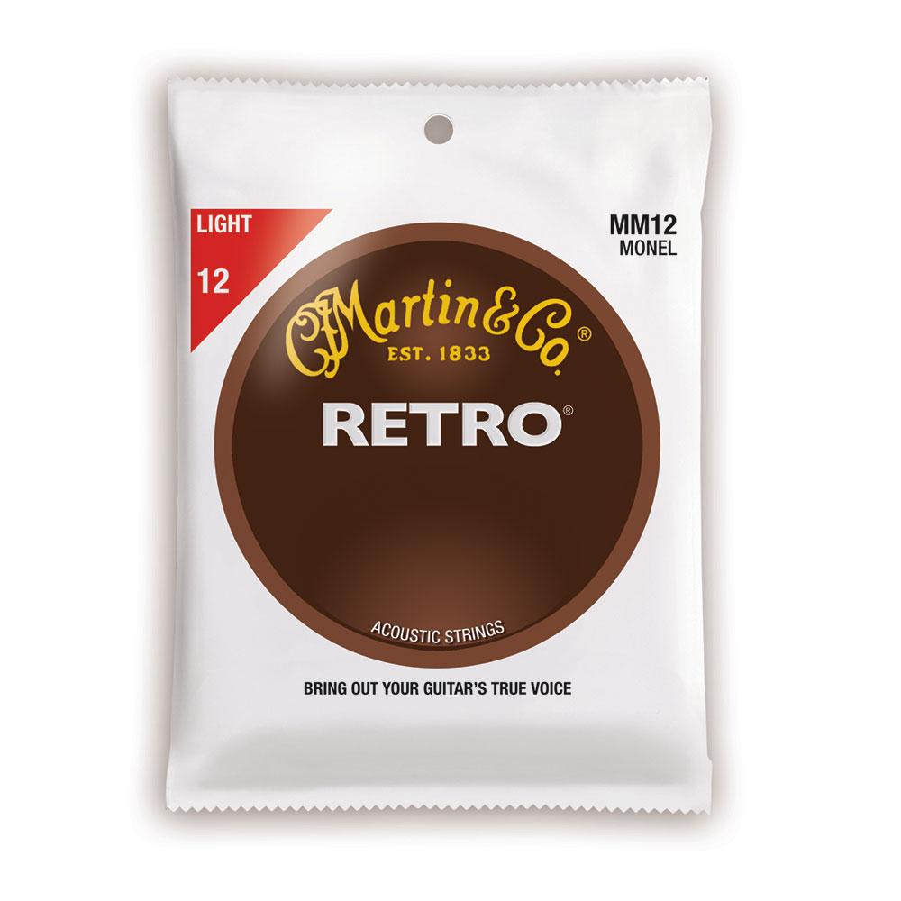 MARTIN MM12 Retro Acoustic Monel Nickel Light アコースティックギター弦×10セット