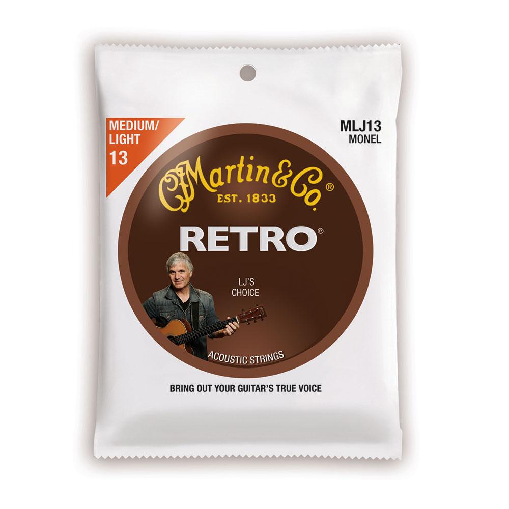 MARTIN MLJ13 Retro Acoustic Monel Nickel Medium Light LJ's Choice アコースティックギター弦×10セット
