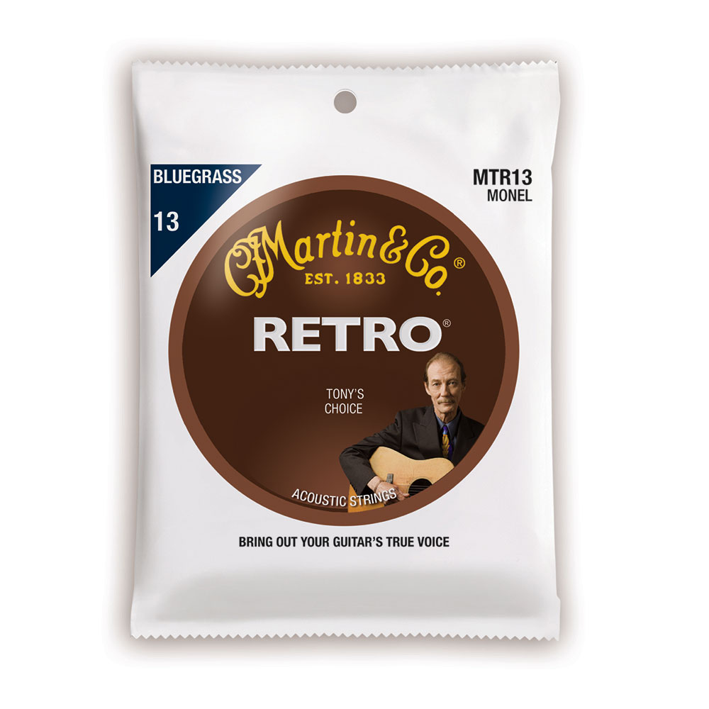 MARTIN MTR13 Retro Acoustic Monel Nickel Bluegrass Tony Rice's Choice アコースティックギター弦×10セット