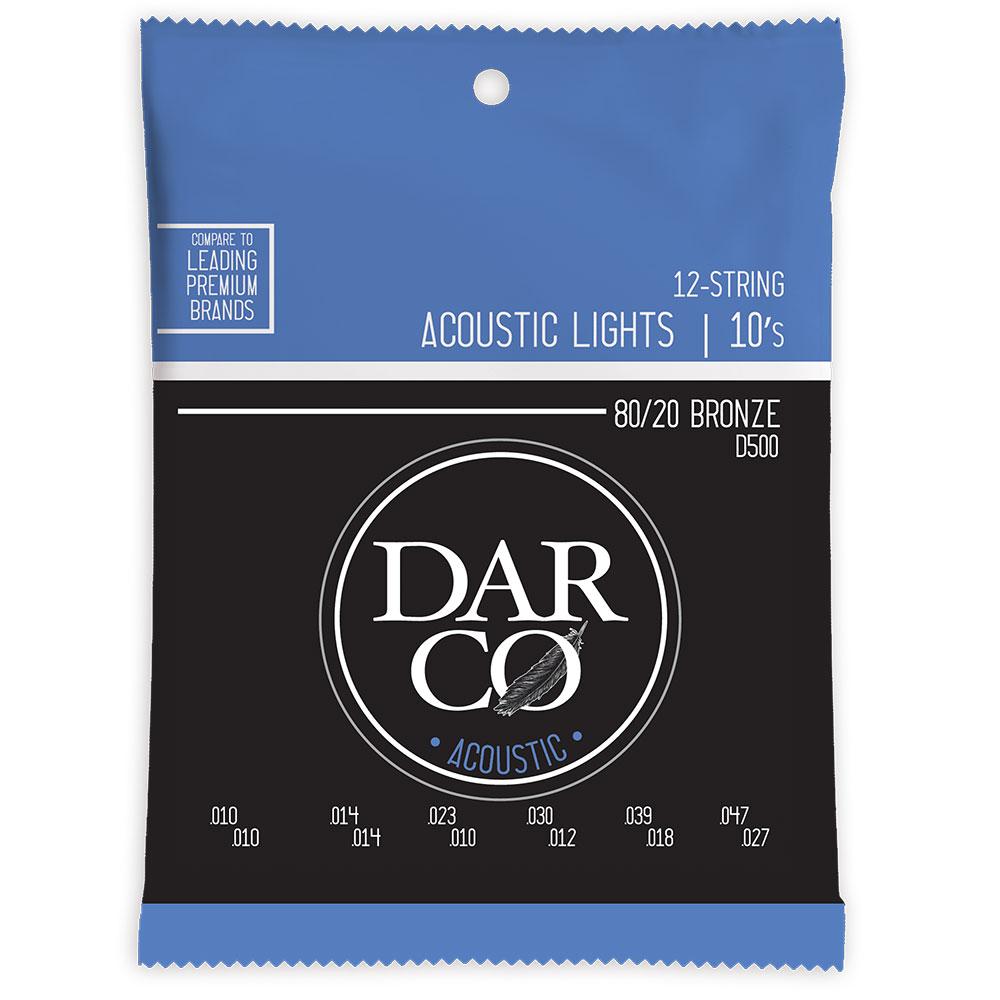 Darco D500 Acoustic Bronze Light 12弦用アコースティックギター弦×10セット