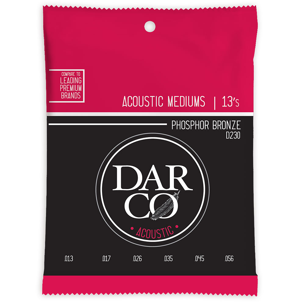 Darco D230 Acoustic Phospher Bronze Medium アコースティックギター弦×10セット