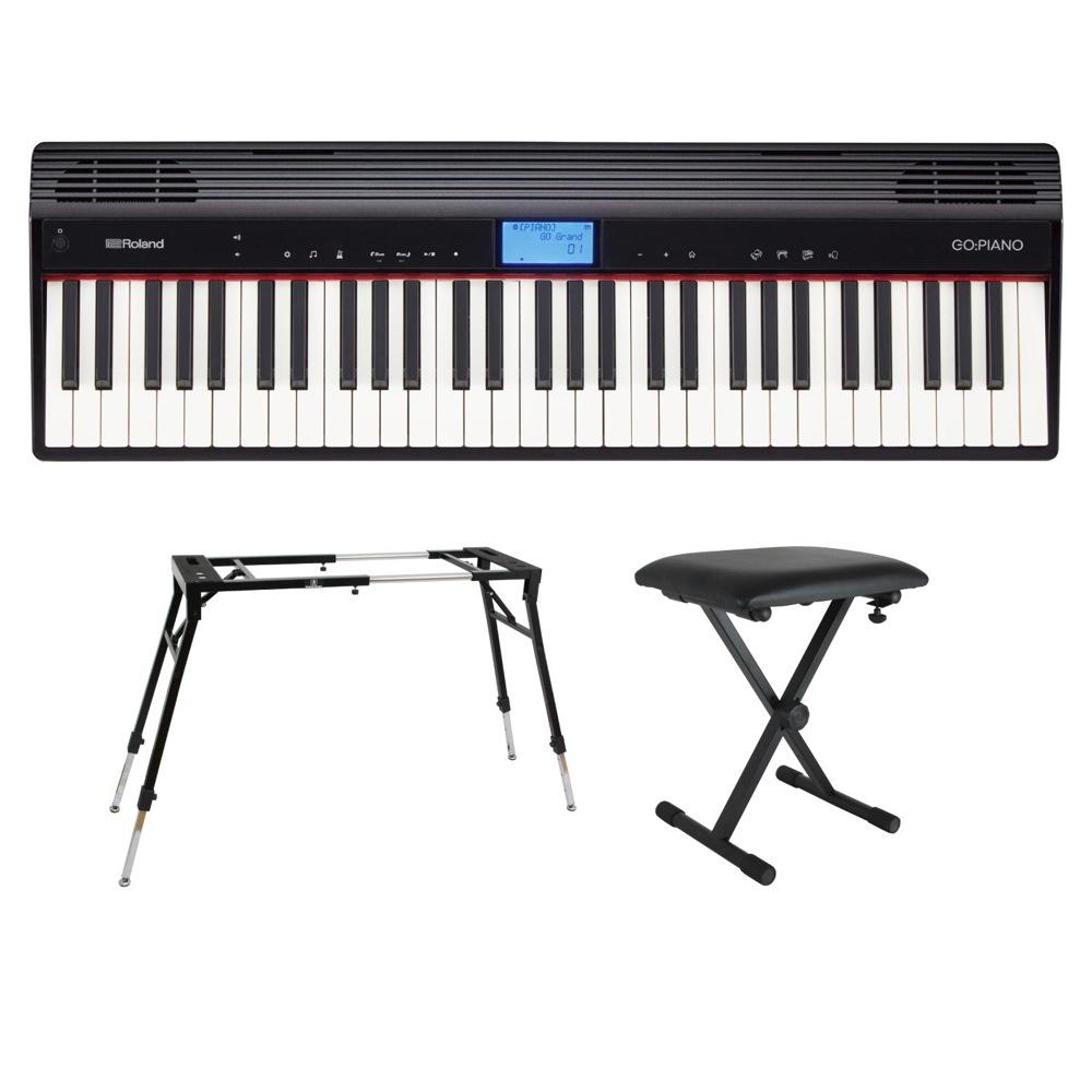 ROLAND GO-61P GO:PIANO エントリーキーボード ピアノ KS-060 4本脚型スタンド SB-001 キーボードベンチ付きセット