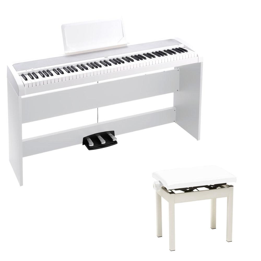 KORG B1SP WH 電子ピアノ 純正高低自在イス付き ホワイト
