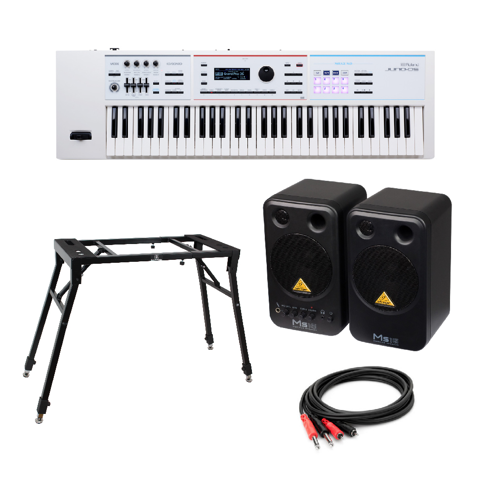 ROLAND MS16 付き JUNO-DS61W ROLAND シンセサイザー BEHRINGER MS16 パワードモニタースピーカー 4本脚型スタンド 付き, ダイコン卸 直販部:4ad24a88 --- jpworks.be