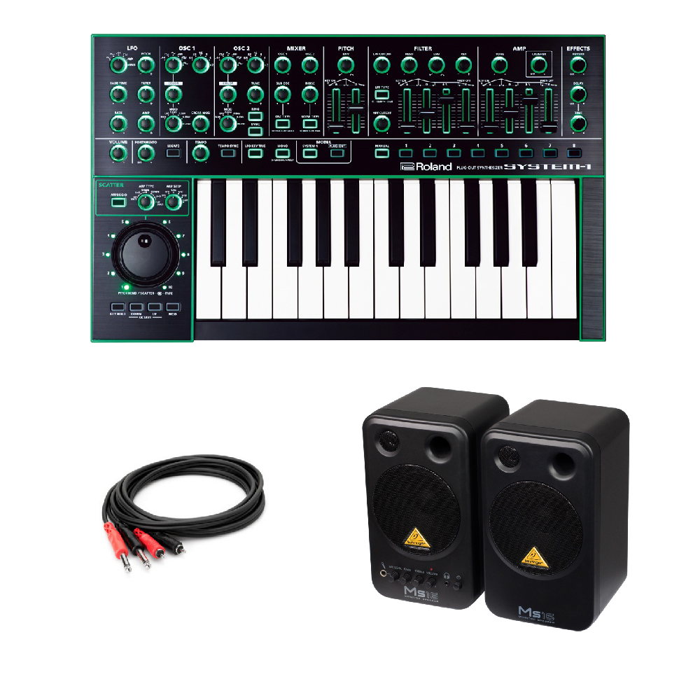 ROLAND SYSTEM-1 AIRA PLUG-OUT Synthesizer シンセサイザー BEHRINGER MS16 パワードモニタースピーカー 付き