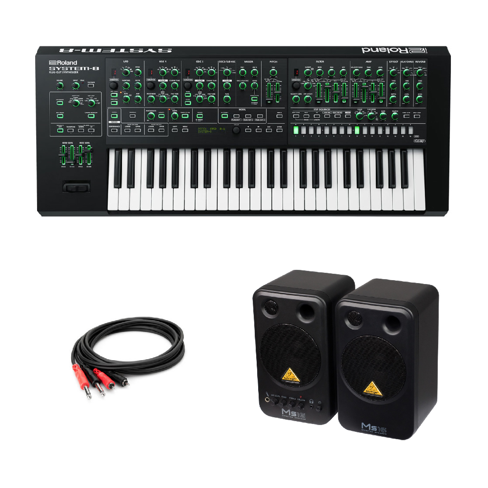 Roland SYSTEM-8 AIRA PLUG-OUT Synthesizer シンセサイザー BEHRINGER MS16 パワードモニタースピーカー 付き