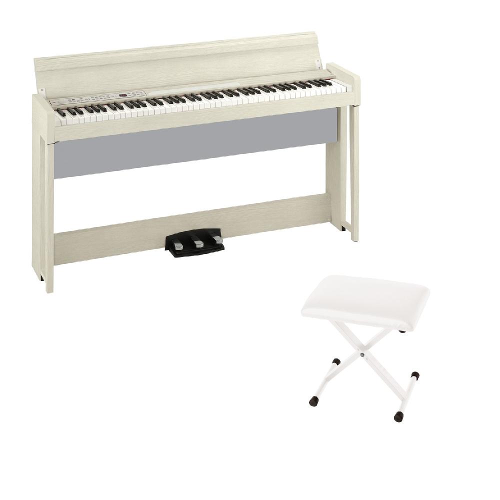 KORG C1 AIR WA 電子ピアノ KORG JS-SB100 WH キーボードベンチセット