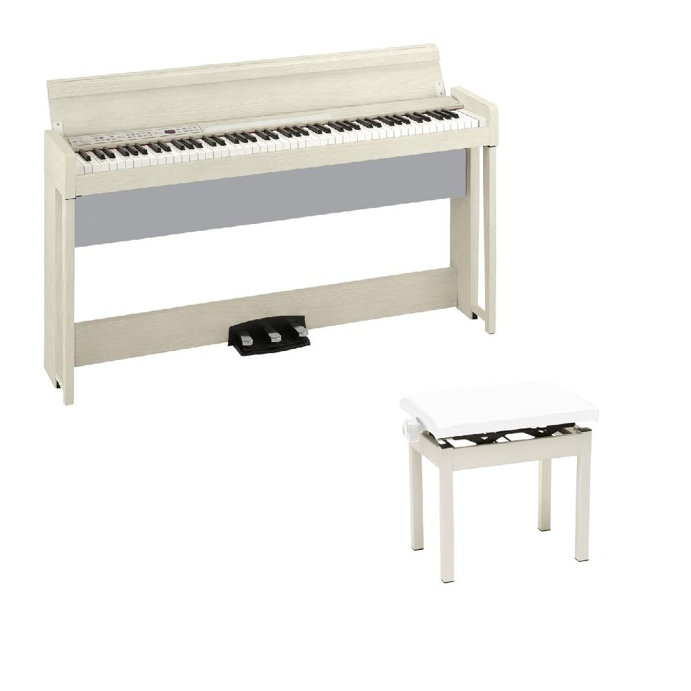 【ラッピング無料】 KORG C1 C1 AIR KORG WA 電子ピアノ KORG PC-300WH PC-300WH キーボードベンチセット, ワイン&ウイスキーグランソレイユ:631474b5 --- taxialtax.nl