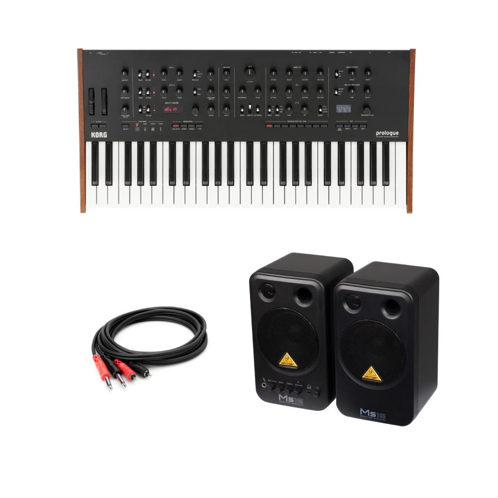 KORG prologue-8 ポリフォニックアナログシンセサイザー 49鍵盤モデル BEHRINGER MS16 パワードモニタースピーカー 付き