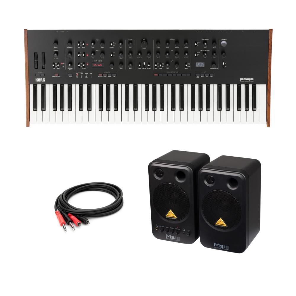 KORG prologue-16 ポリフォニックアナログシンセサイザー 61鍵盤モデル BEHRINGER MS16 パワードモニタースピーカー 付き