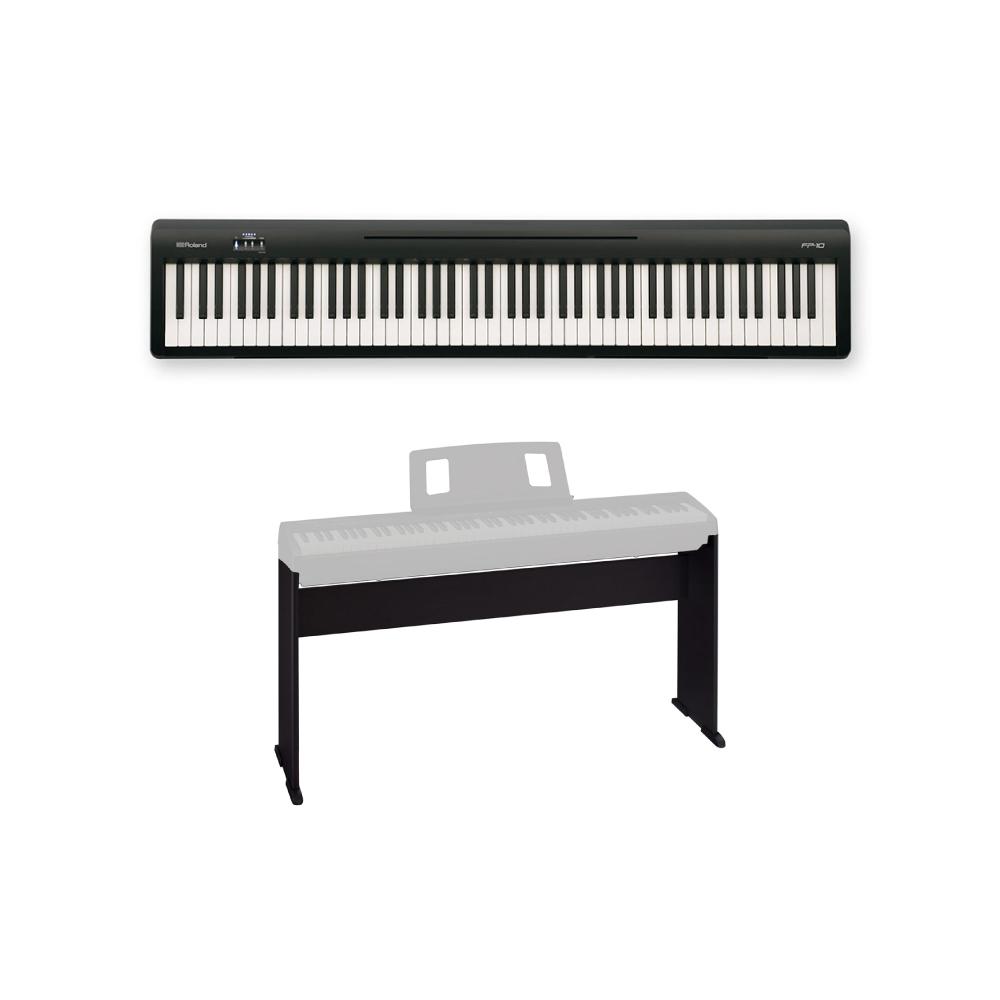 ROLAND FP-10 BK 電子ピアノ ポータブルピアノ 純正スタンド付きセット