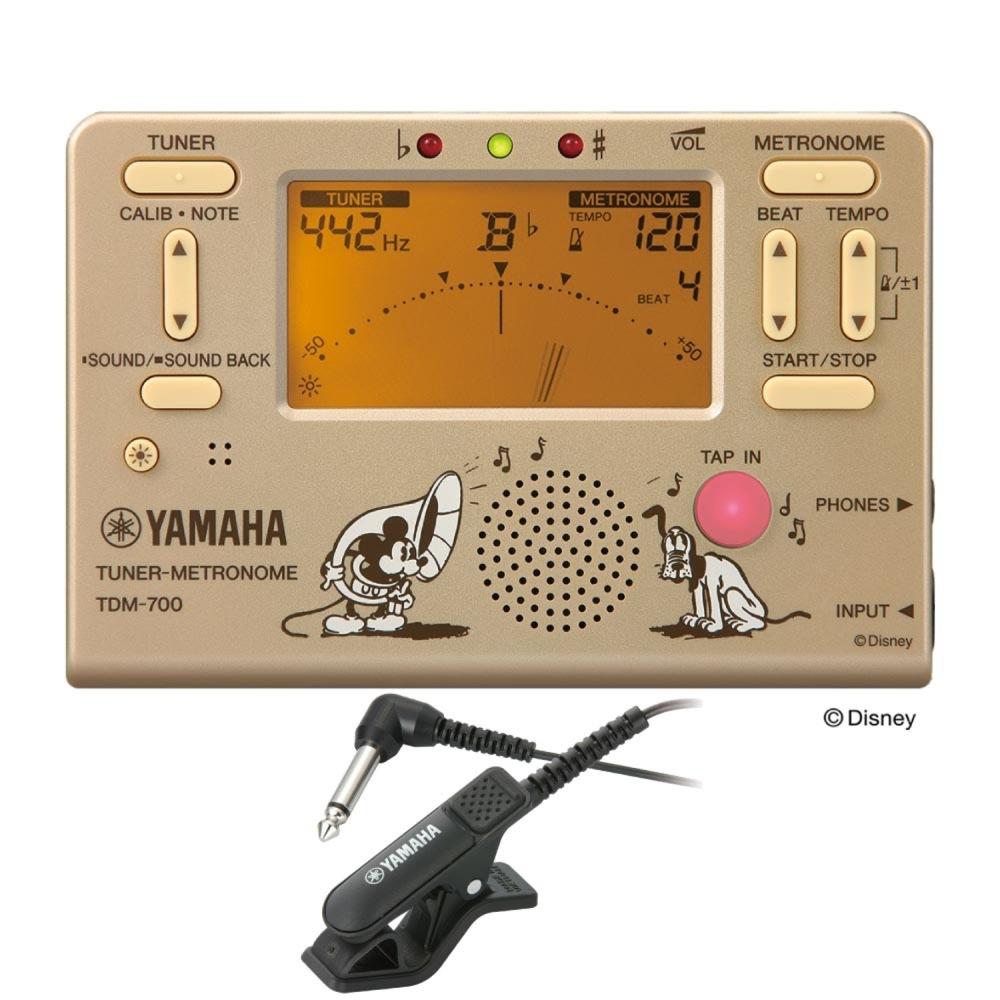 全商品オープニング価格 ヤマハ 限定ディズニーモデル ミッキーマウス 入門用にもお勧め YAMAHA TDM-700DMK メトロノーム チューナー専用マイクロフォン付き 2点セット ディズニー 期間限定で特別価格 TM-30BK チューナー