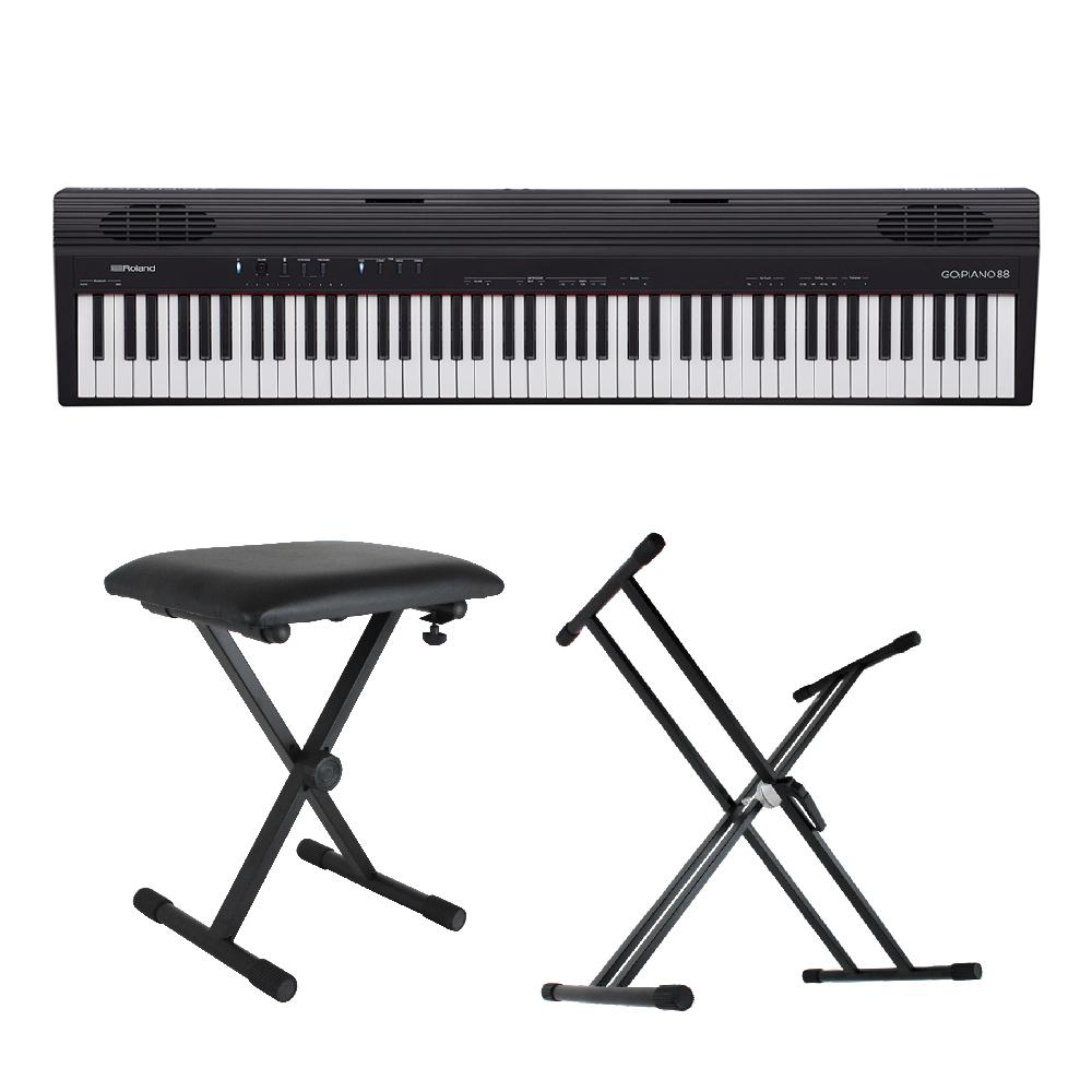 ROLAND GO-88 GO:PIANO88 X型スタンド/X型椅子付きセット Entry Keyboard Piano エントリーキーボード ピアノ 88鍵盤