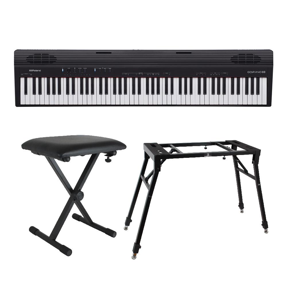 ROLAND GO-88 GO:PIANO88 4本脚スタンド/X型椅子付きセット Entry Keyboard Piano エントリーキーボード ピアノ 88鍵盤