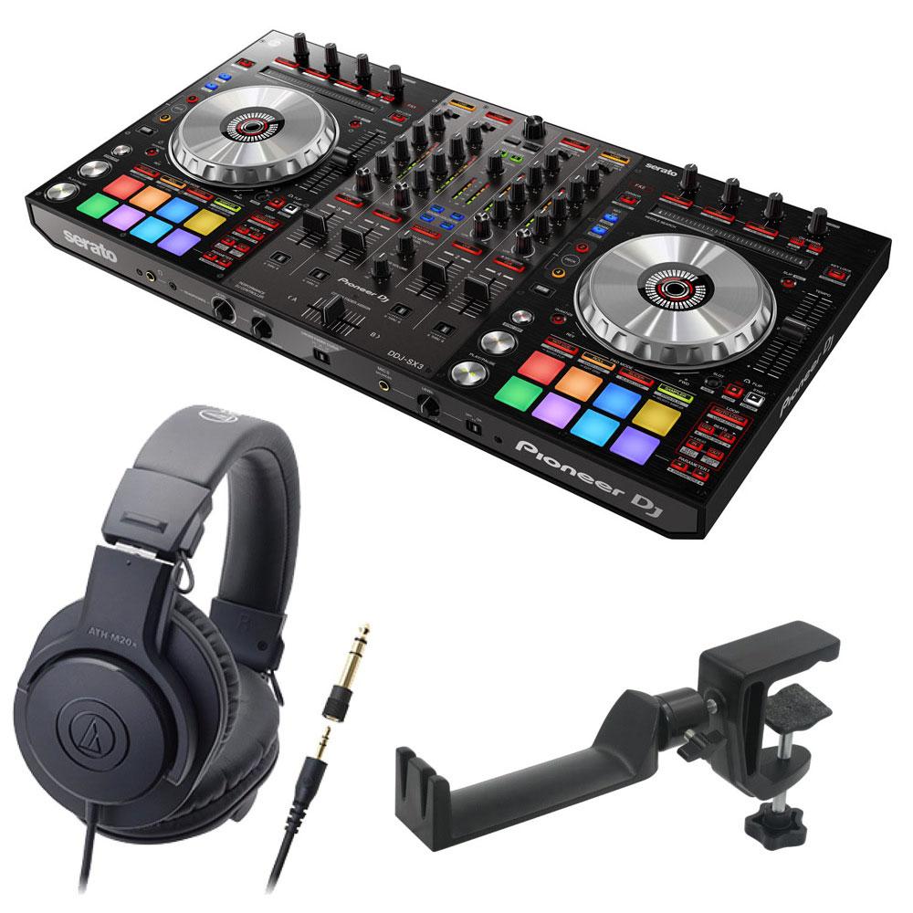 Pioneer DDJ-SX3 DJコントローラー AUDIO-TECHNICA ATH-M20x ヘッドフォン SEELETON ヘッドホンハンガー 3点セット