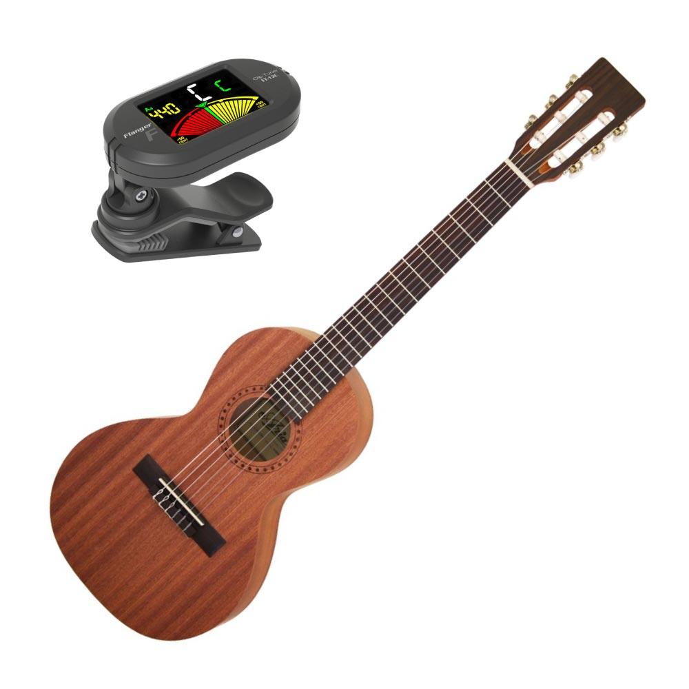 アリア 580mmスケールのナイロン弦ミニギター チューナーセット ARIA ASA-18C クリップチューナー付き 新色追加 WEB限定 ミニクラシックギター