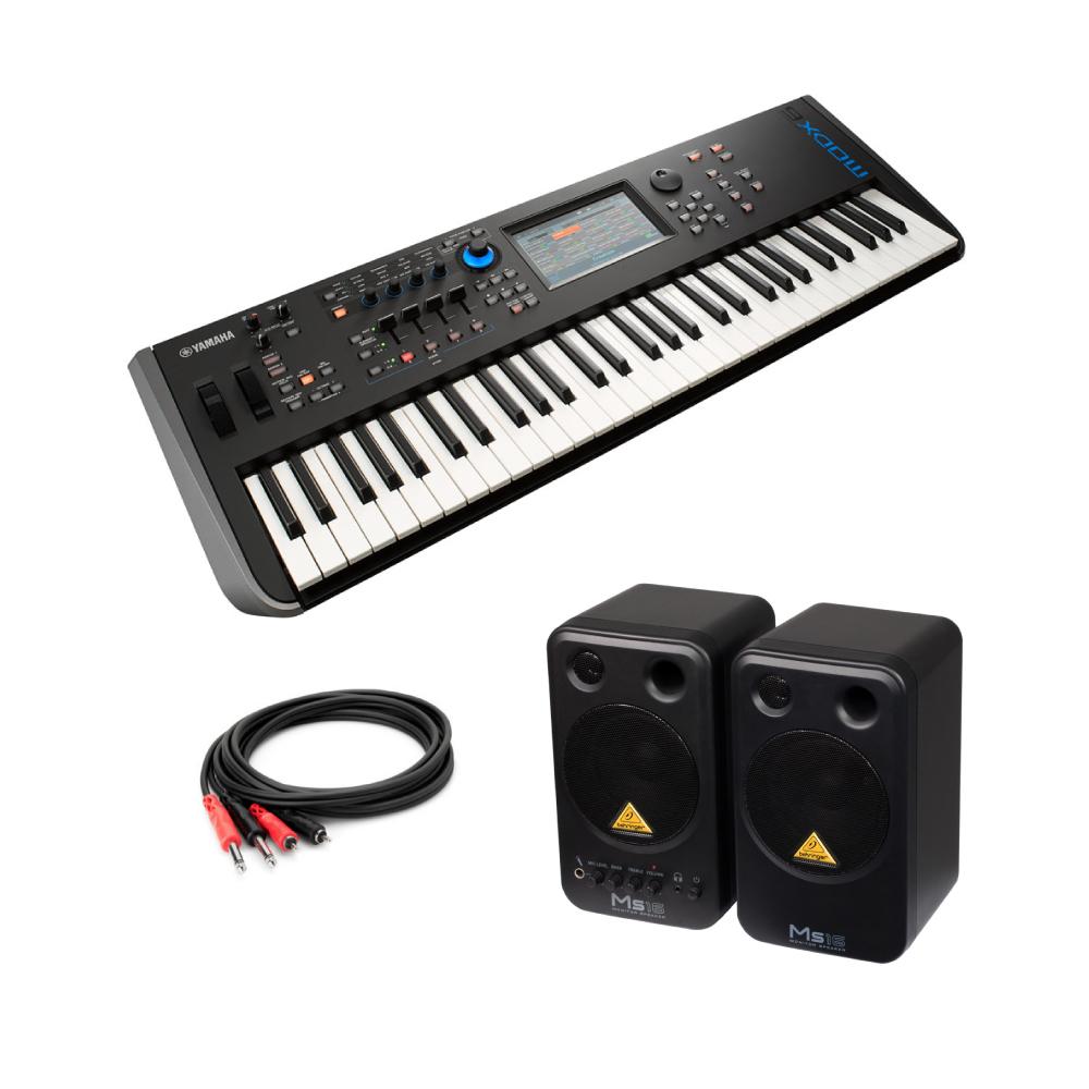YAMAHA MODX6 61鍵 ミュージックシンセサイザー BEHRINGER MS16 パワードモニタースピーカー 付き