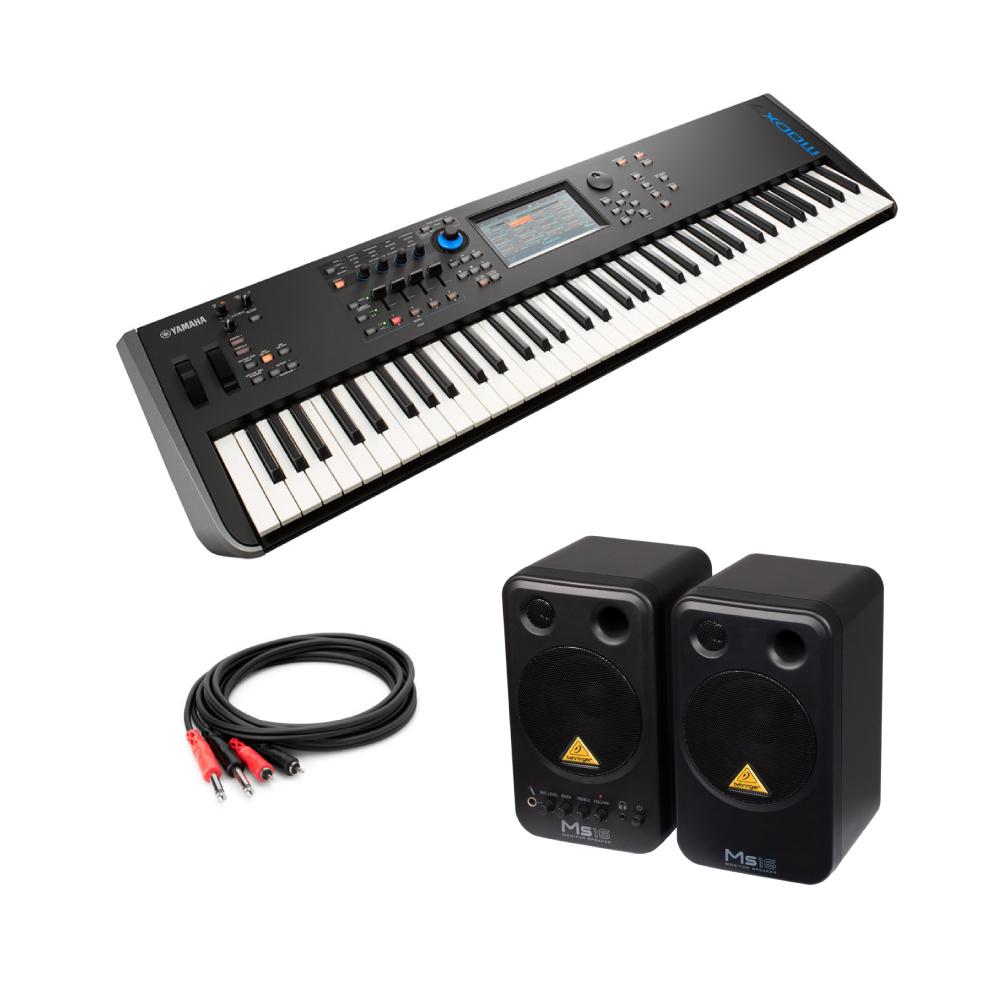 YAMAHA MODX7 76鍵 ミュージックシンセサイザー BEHRINGER MS16 パワードモニタースピーカー 付き