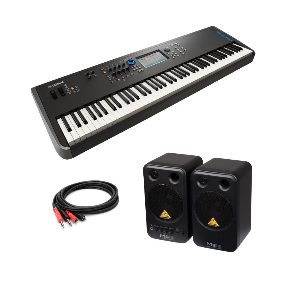 YAMAHA MODX8 88鍵 ミュージックシンセサイザー BEHRINGER MS16 パワードモニタースピーカー 付き