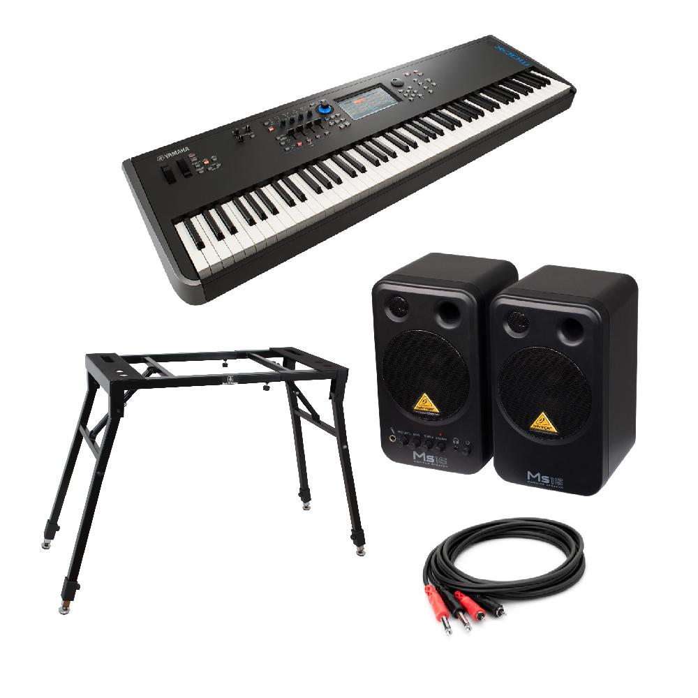 YAMAHA MODX8 88鍵 ミュージックシンセサイザー BEHRINGER MS16 パワードモニタースピーカー 4本脚型スタンド 付き