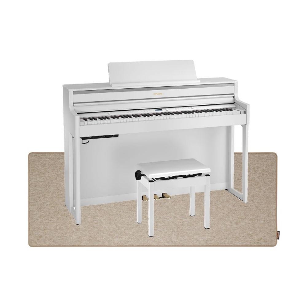 ROLAND HP704-WHS ホワイト 電子ピアノ 高低自在イス&ピアノセッティングマット付き セット【組立設置無料サービス中】