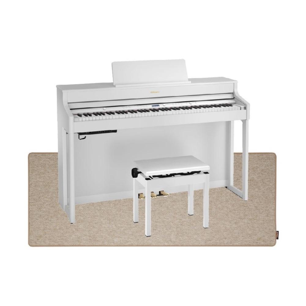 ROLAND HP702-WHS ホワイト 電子ピアノ 高低自在イス&ピアノセッティングマット付き セット【組立設置無料サービス中】