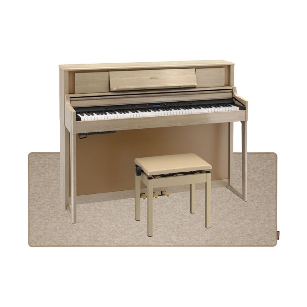 ROLAND LX705-LAS ライトオーク 電子ピアノ 高低自在イス&ピアノセッティングマット付き セット【組立設置無料サービス中】