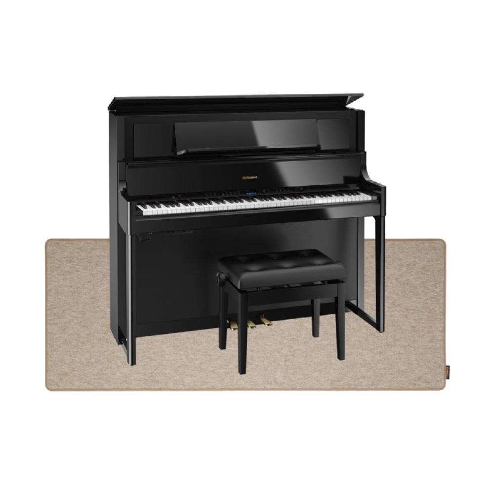 ROLAND LX708-PES 黒塗鏡面艶出し塗装 電子ピアノ 高低自在イス&ピアノセッティングマット付き セット【組立設置無料サービス中】
