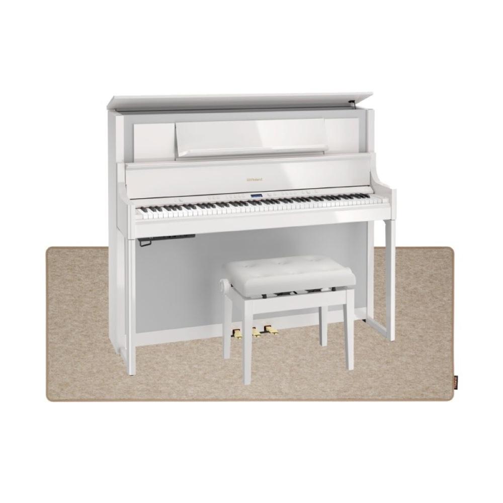 ROLAND LX708-PWS 電子ピアノ 高低自在イス&ピアノセッティングマット付き セット【組立設置無料サービス中】