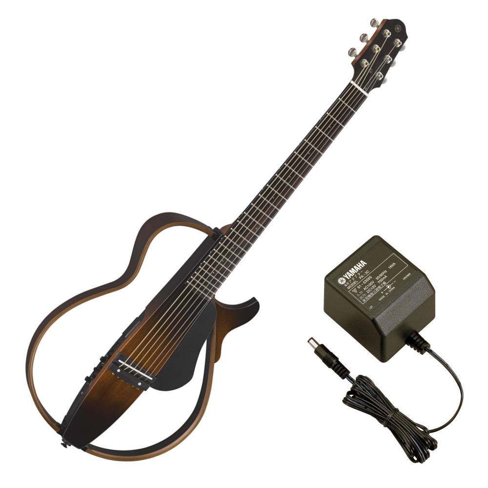 YAMAHA SLG200S TBS サイレントギター PA-3C 電源アダプター付き
