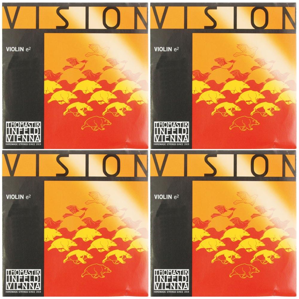 ヴィジョン 4 4分数バイオリン用 E線 A線 D線 VISION 在庫あり D線シルバー Thomastik 4サイズバイオリン用 2020モデル セット弦 G線のセット