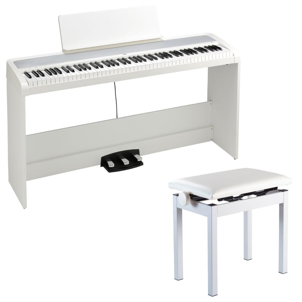 KORG B2SP WH 電子ピアノ 純正高低自在イス付き ホワイト