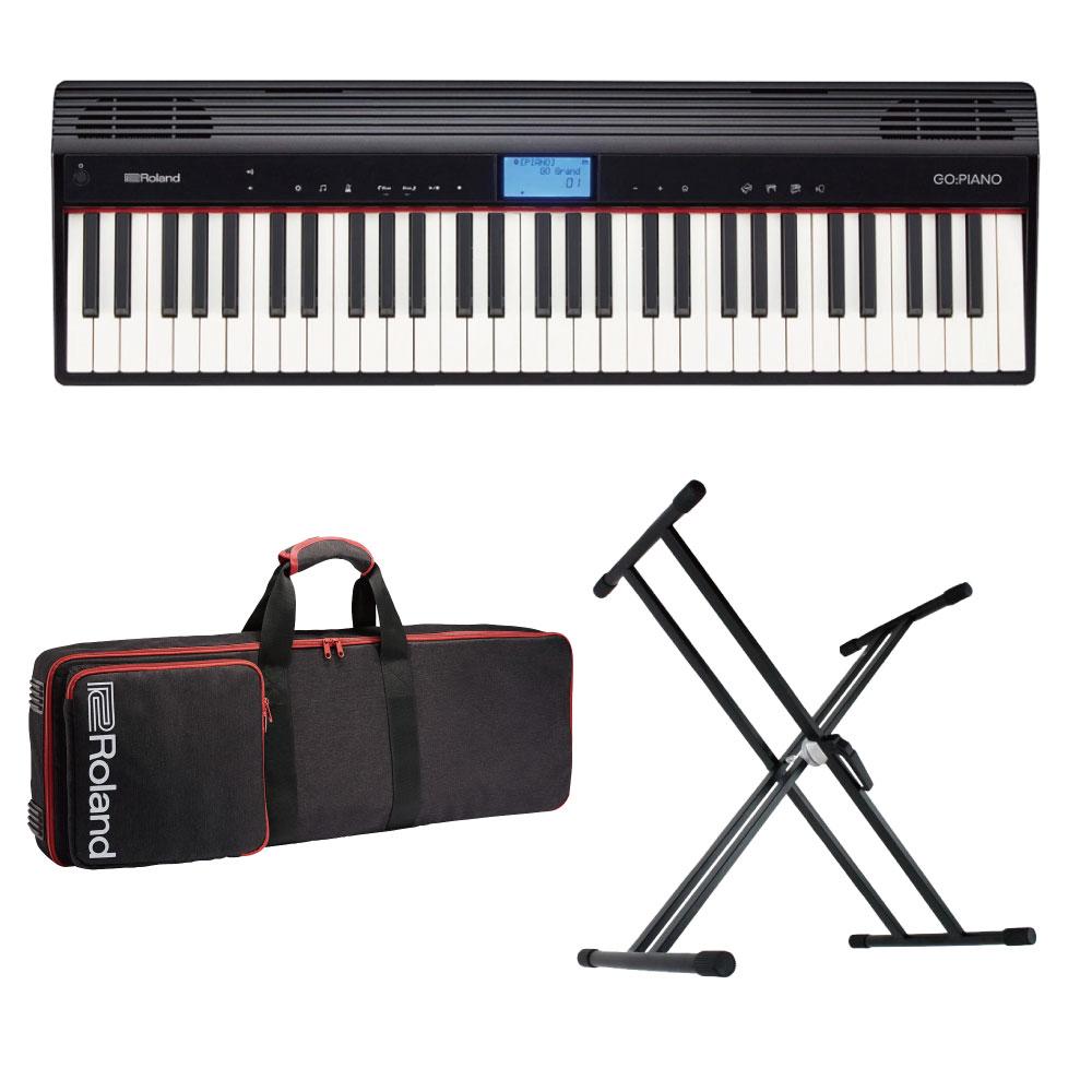 ROLAND GO-61P GO:PIANO エントリーキーボード ピアノ 純正ケース/X型キーボードスタンド付きセット