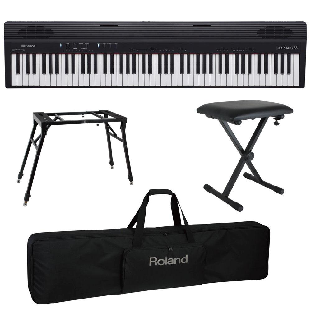 ROLAND GO-88 GO:PIANO88 4本脚スタンド/X型椅子/キャリングケース付きセット Entry Keyboard Piano エントリーキーボード ピアノ 88鍵盤
