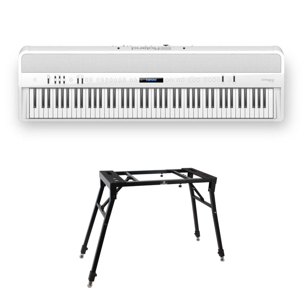 ROLAND FP-90-WH Digital Piano 4本脚スタンド付きセット ブラック デジタルピアノ