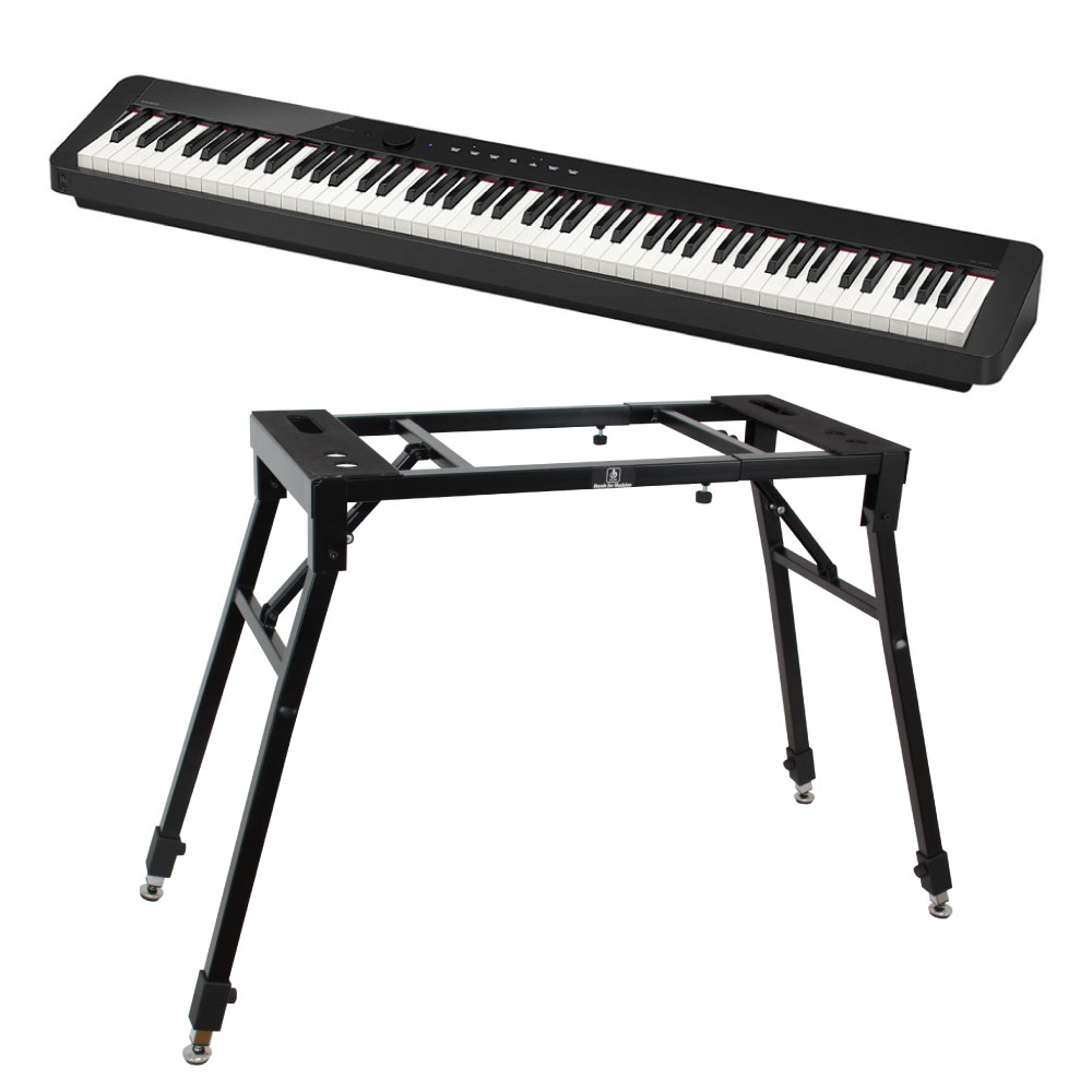 CASIO Privia PX-S1000 BK 電子ピアノ 4本脚スタンド付き セット