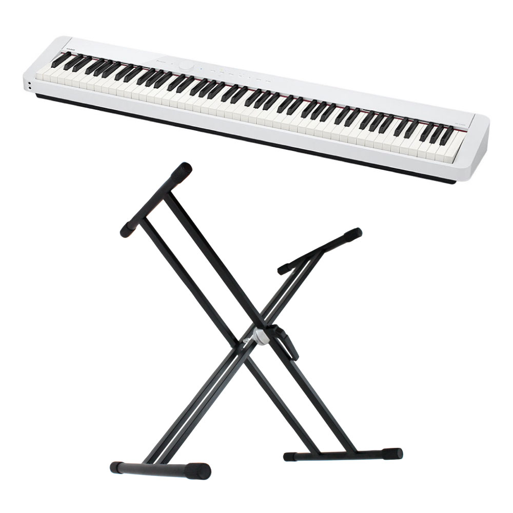 CASIO Privia PX-S1000 WE 電子ピアノ X型スタンド付き セット