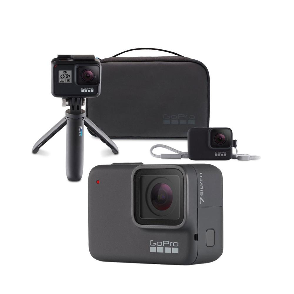GoPro HERO7 Silver ウェアラブルカメラ + トラベルキット付き セット