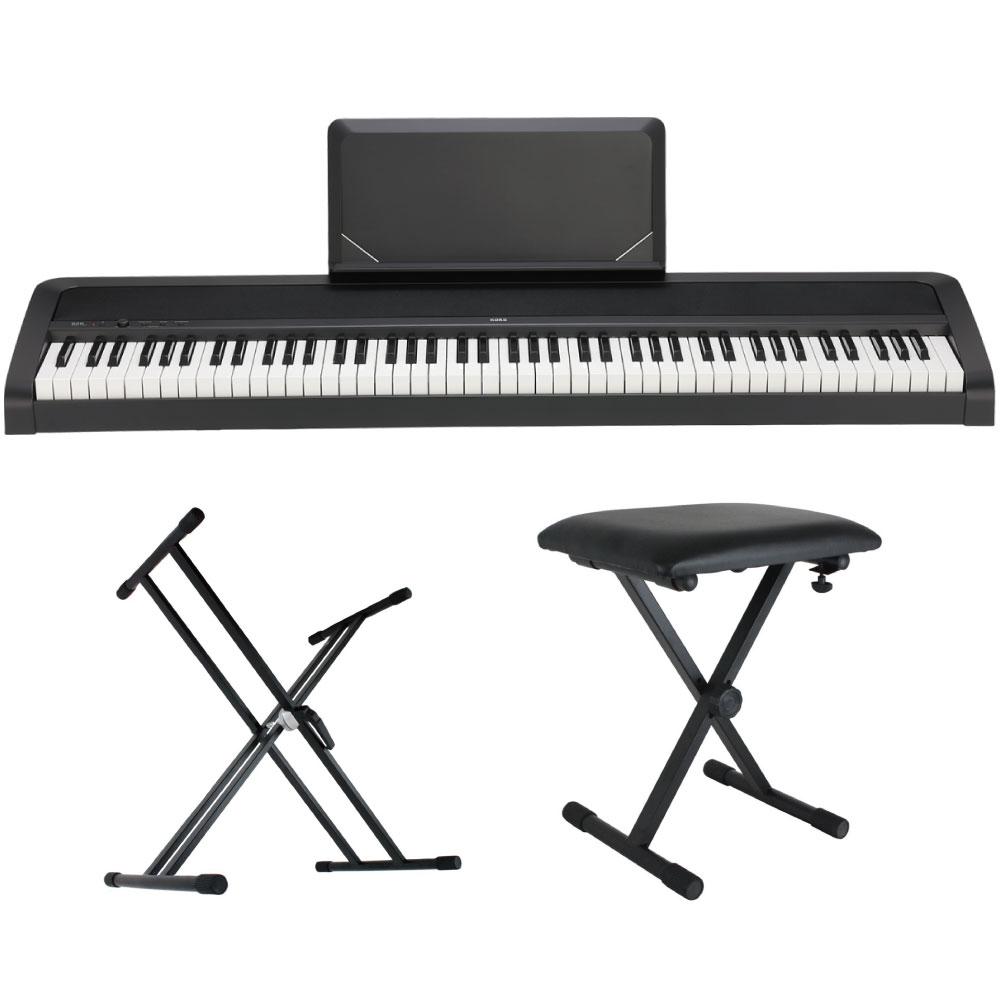 KORG B2N BK 電子ピアノ Dicon Audio X型キーボードスタンド キーボードベンチ 3点セット