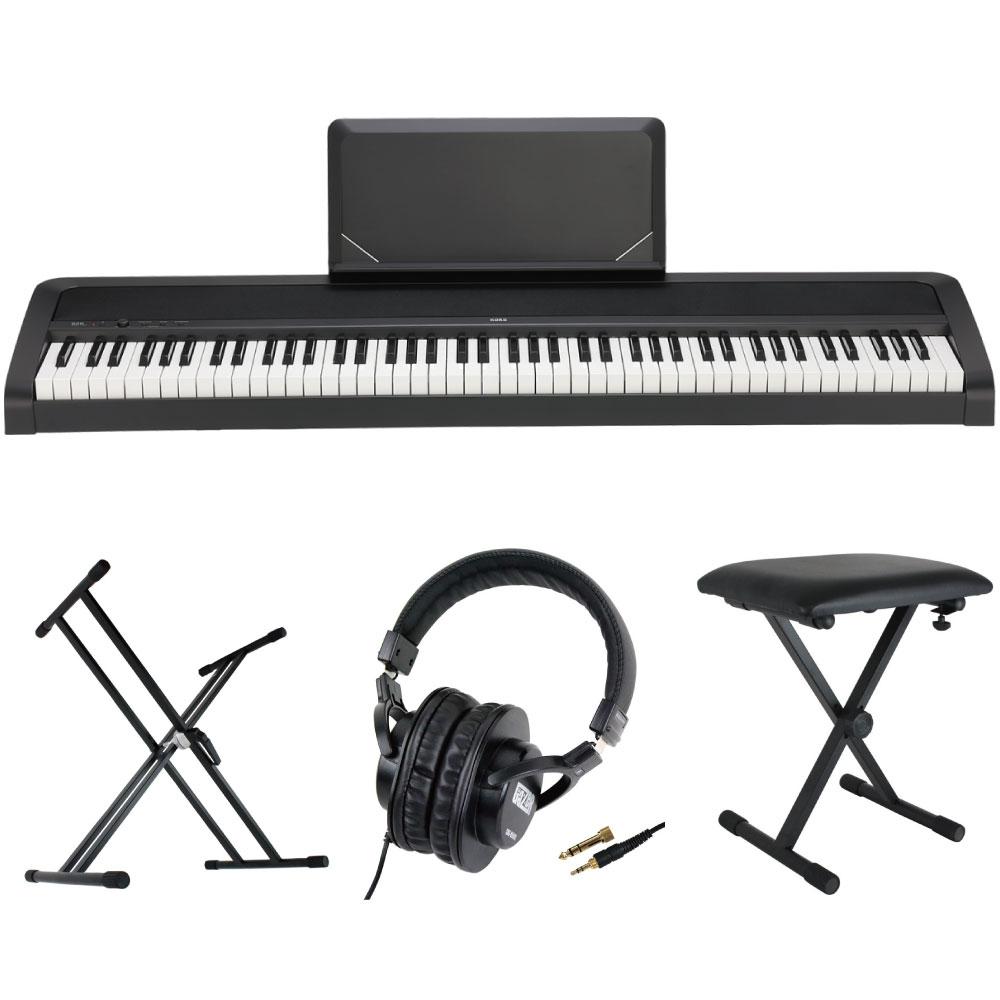 KORG B2N BK 電子ピアノ Dicon Audio X型キーボードスタンド ベンチ ヘッドホン 4点セット
