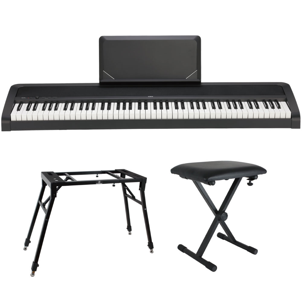 KORG B2N BK 電子ピアノ Dicon Audio 4本脚型 キーボードスタンド ベンチ 3点セット