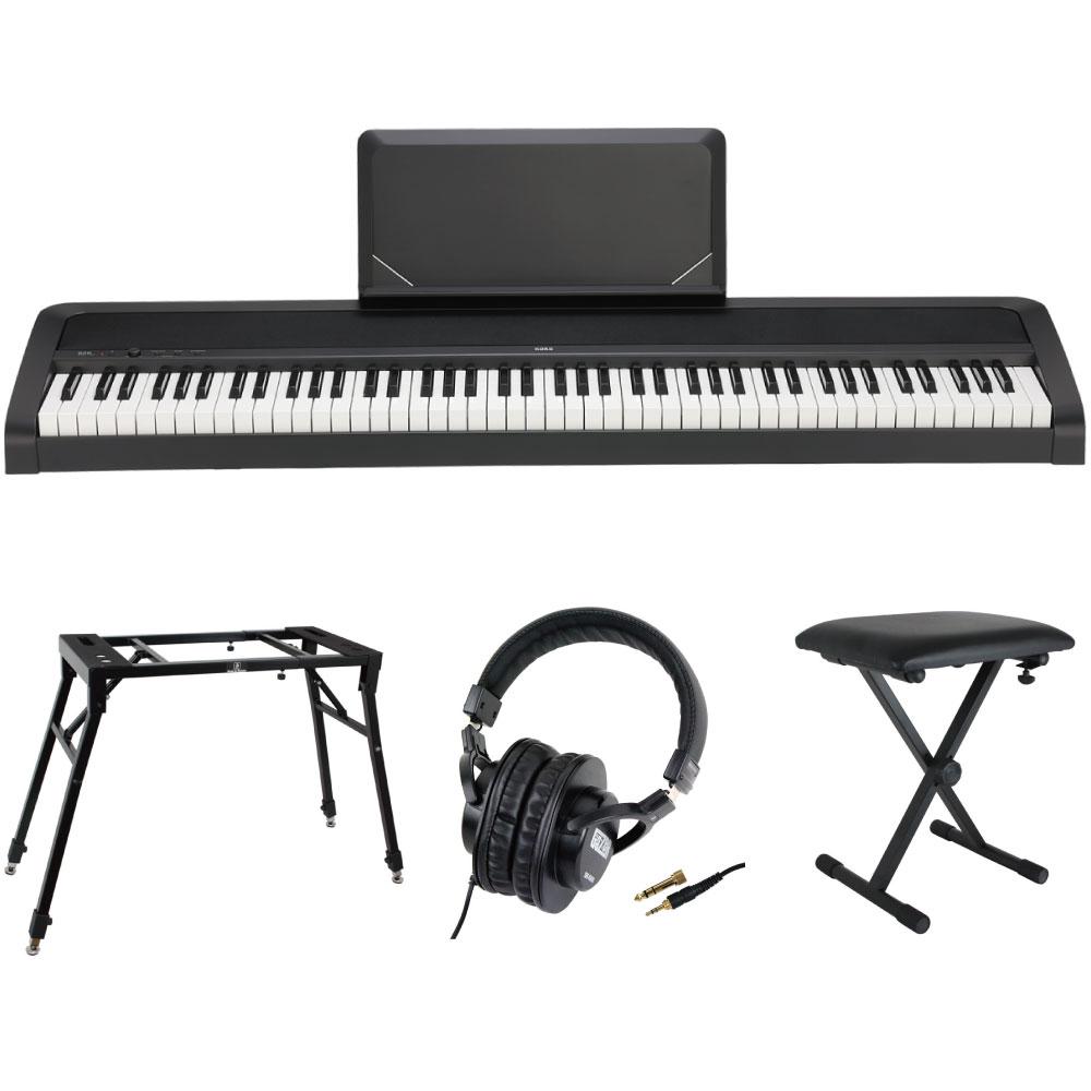 KORG B2N BK 電子ピアノ Dicon Audio 4本脚型 キーボードスタンド ベンチ ヘッドホン 4点セット