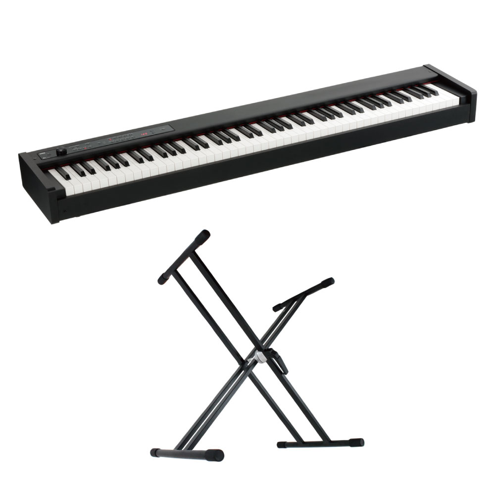 KORG D1 DIGITAL PIANO 電子ピアノ X型スタンド 2点セット
